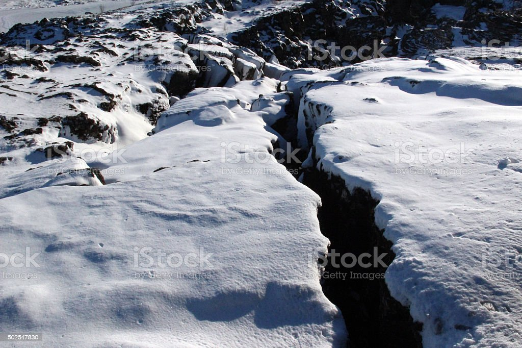 Iceland: Tectonic Plates Meet at Thingvellir stock photo