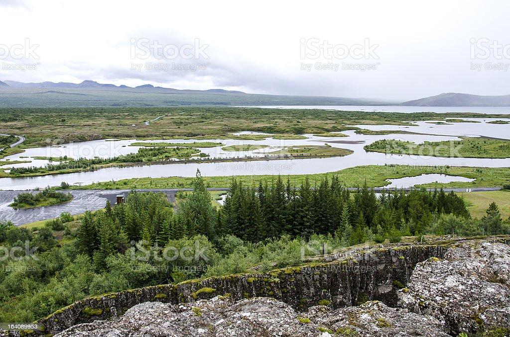 Iceland - Thingvellir National Park, Golden Circle royalty-free stock photo