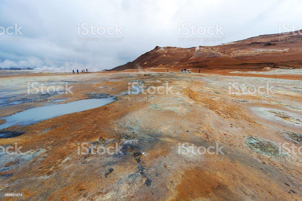 Iceland, Volcanic landscape Namafjall stock photo