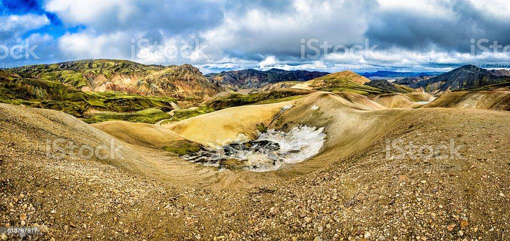Iceland Volcano Panorama stock photo