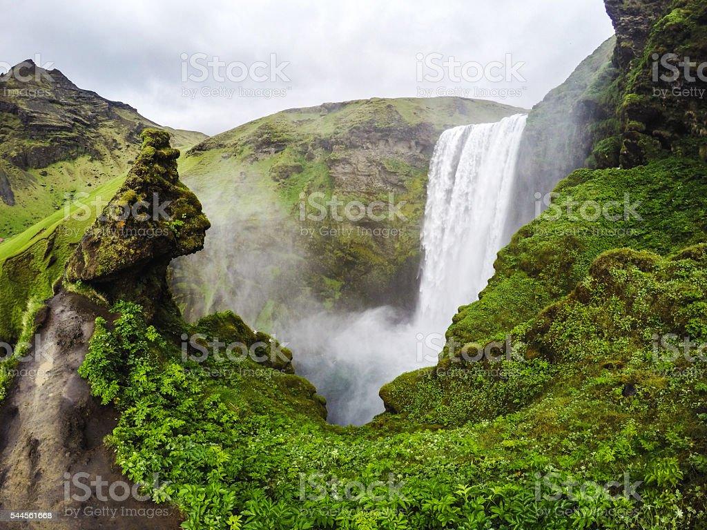 Iceland waterfalls stock photo