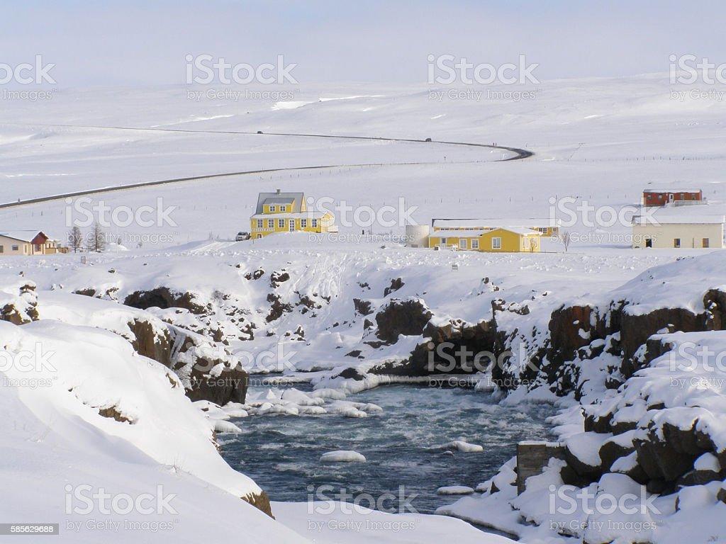 Iceland winter stock photo