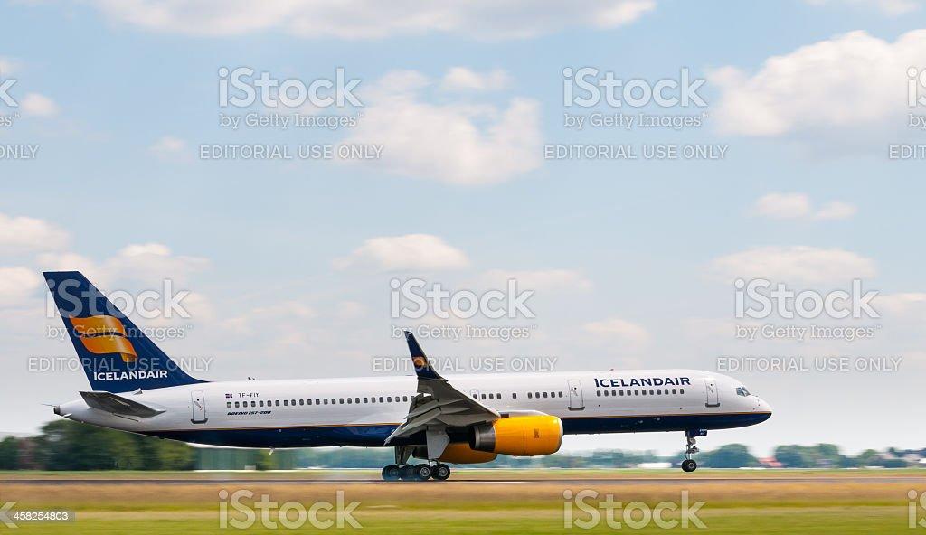 Icelandair airlines plane stock photo