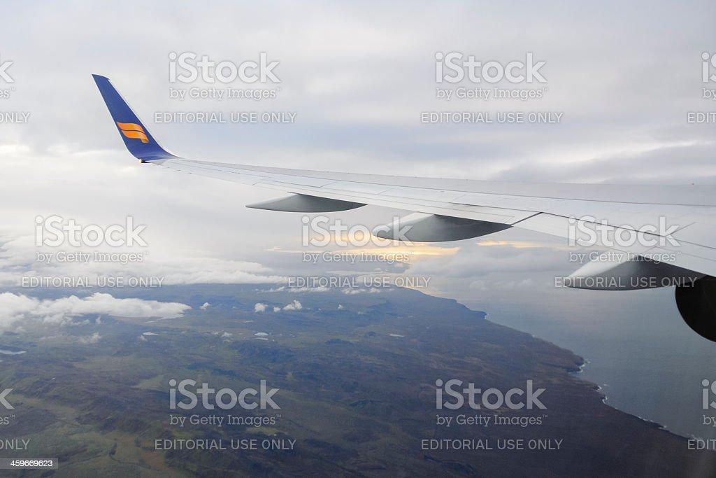 Icelandair take off stock photo