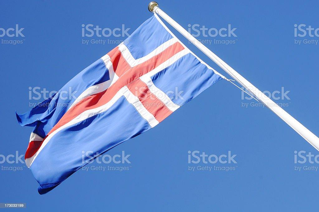 Icelandic Flag royalty-free stock photo