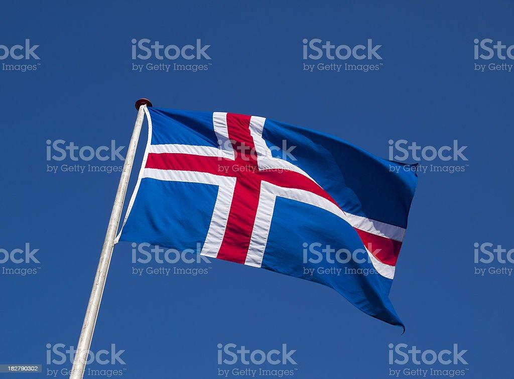 Icelandic flag stock photo