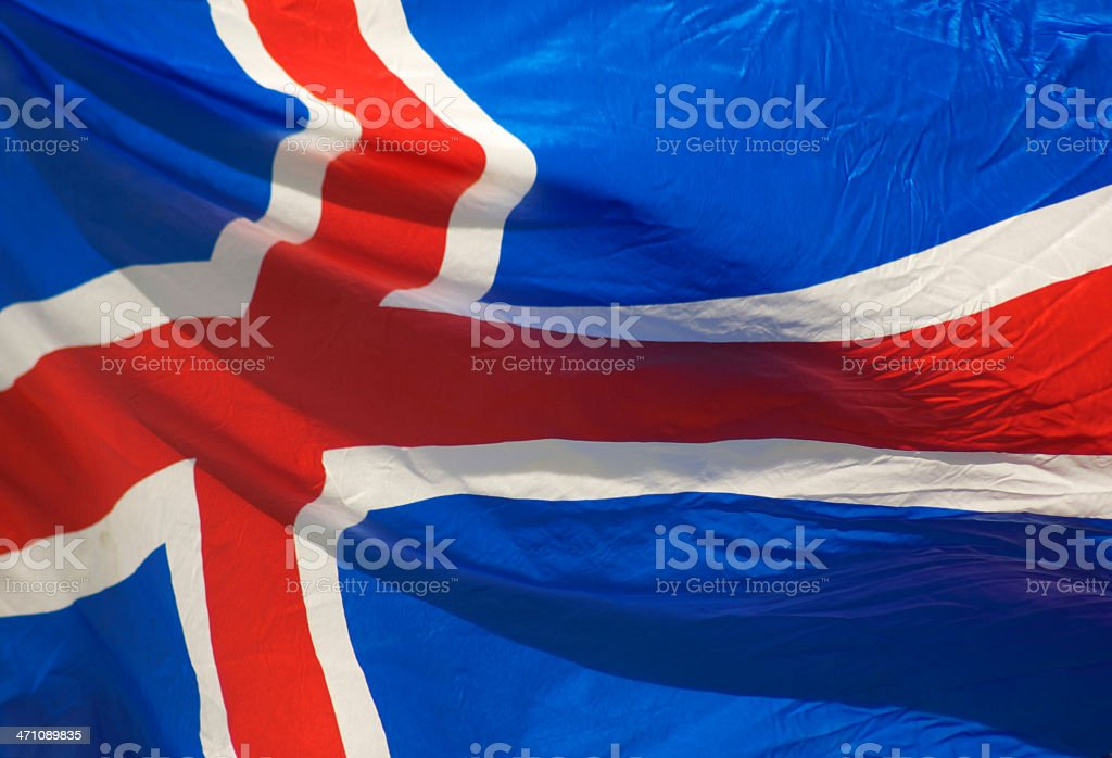 Icelandic Flag stock photo