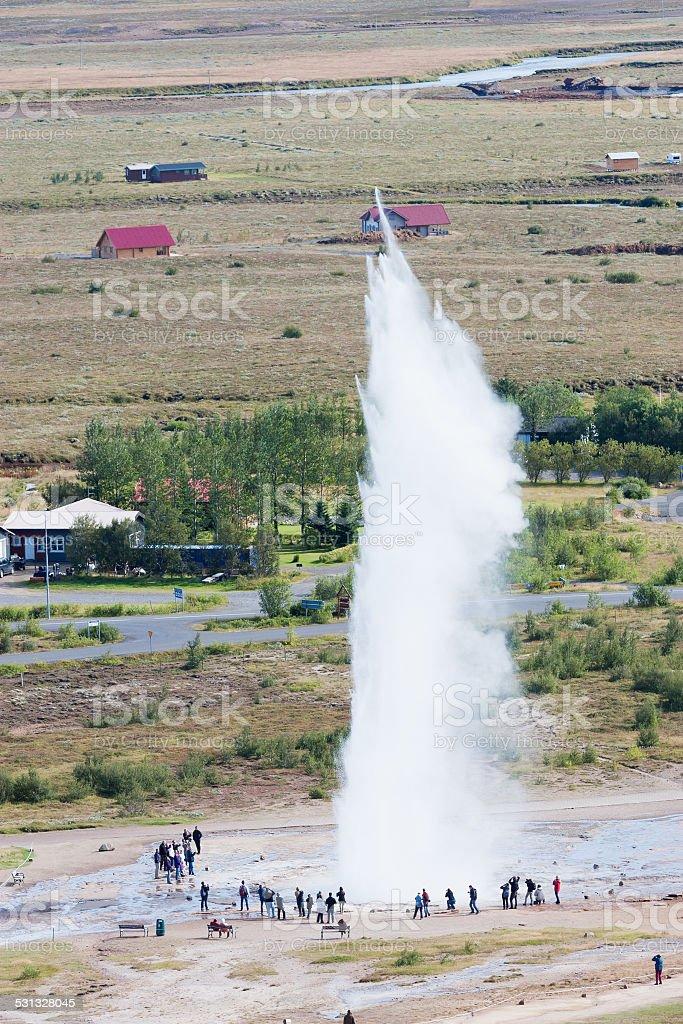 Icelandic geyser Strokkur stock photo