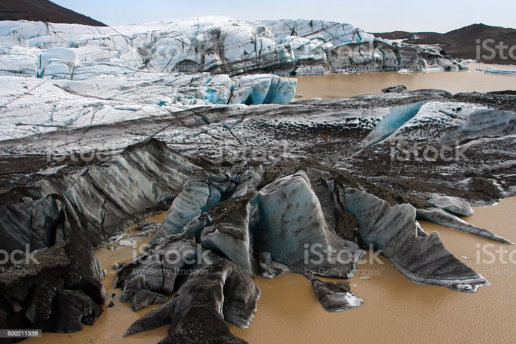 Icelandic glacier - Vatnajokull stock photo