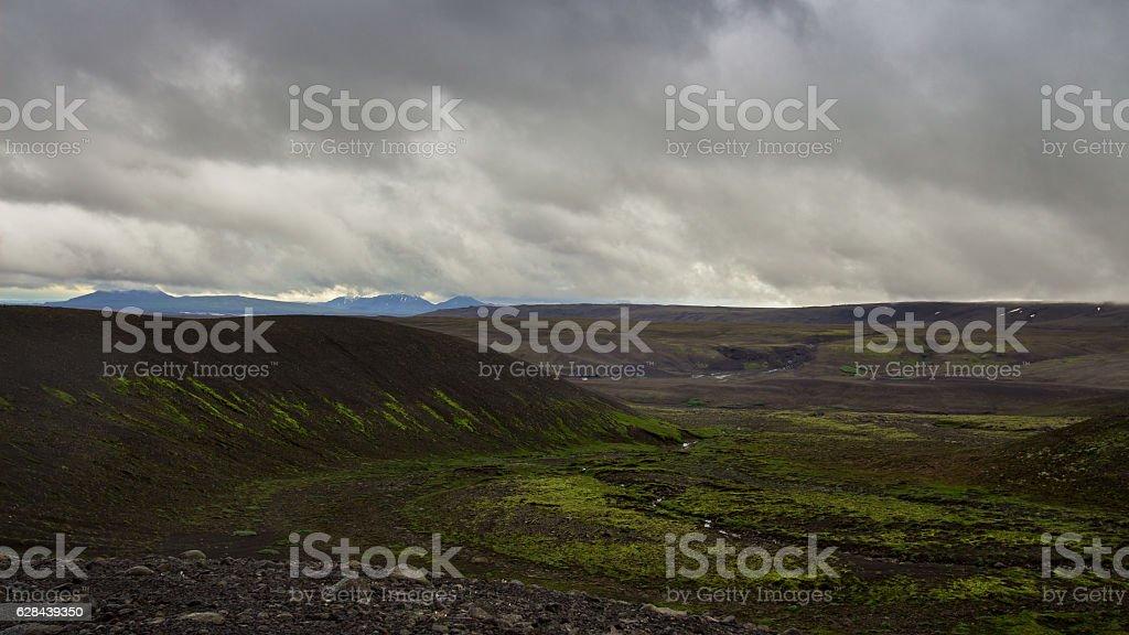 Icelandic Highland Tundra stock photo