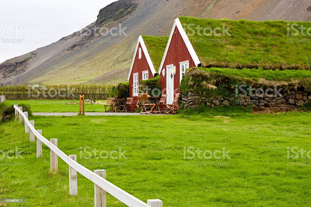 Icelandic Houses stock photo