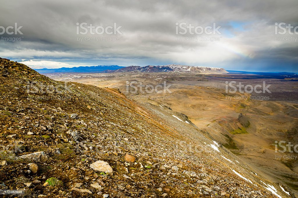 icelandic landscape stock photo