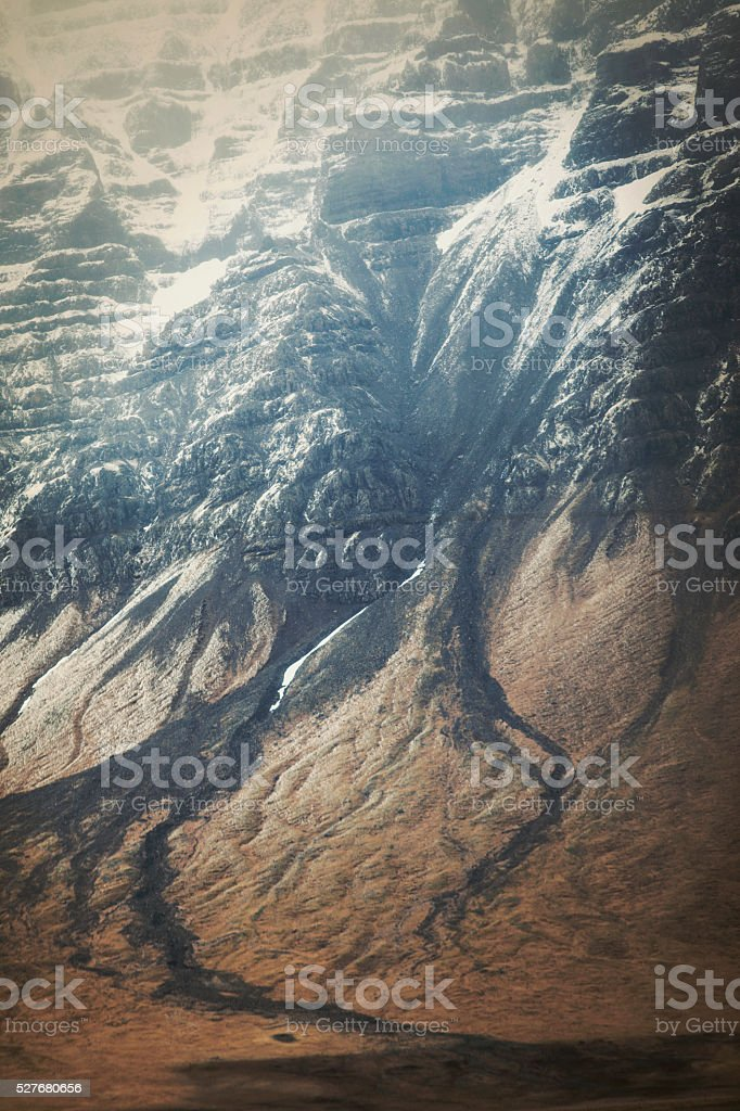 Icelandic landscape with mountain stock photo