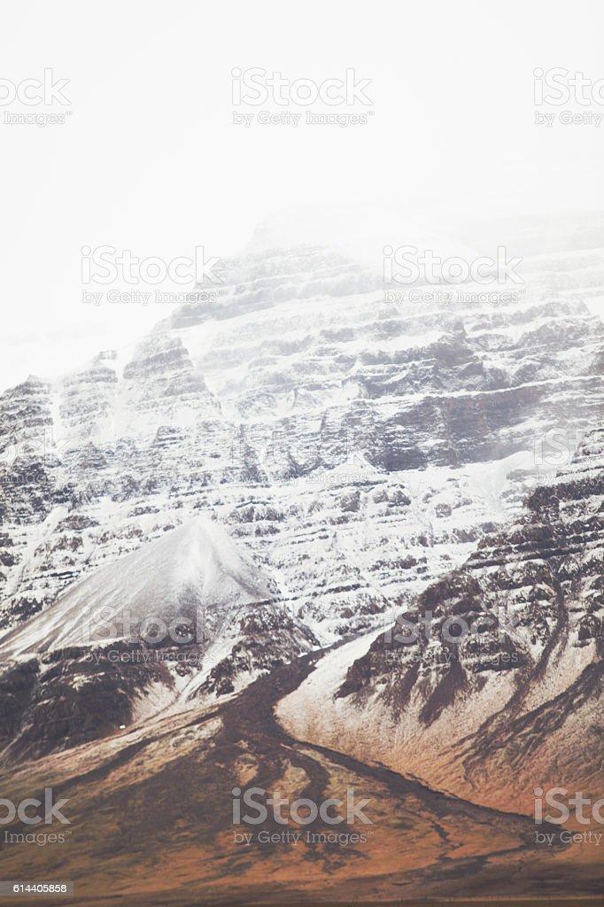 Icelandic landscape with mountain stock photo
