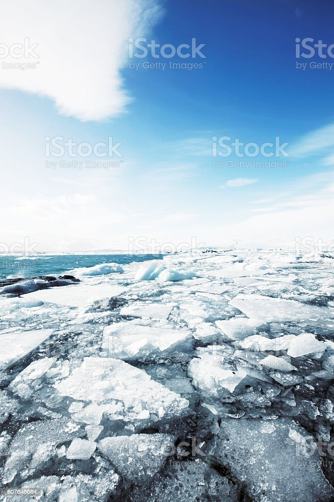 Icelandic landscape with stock photo