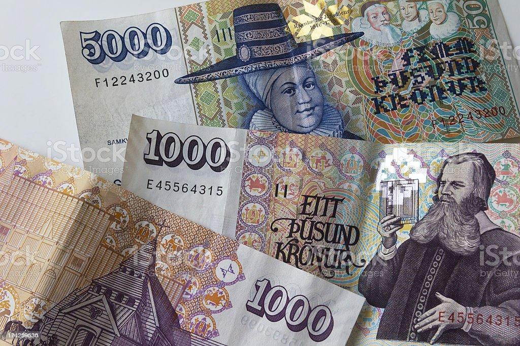 Icelandic money stock photo