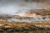Icelandic nature with geothermal activity