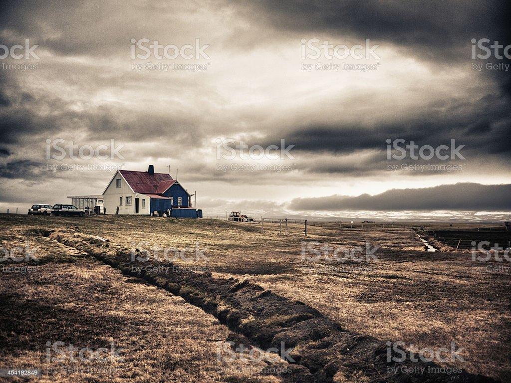 Icelandic outpost stock photo