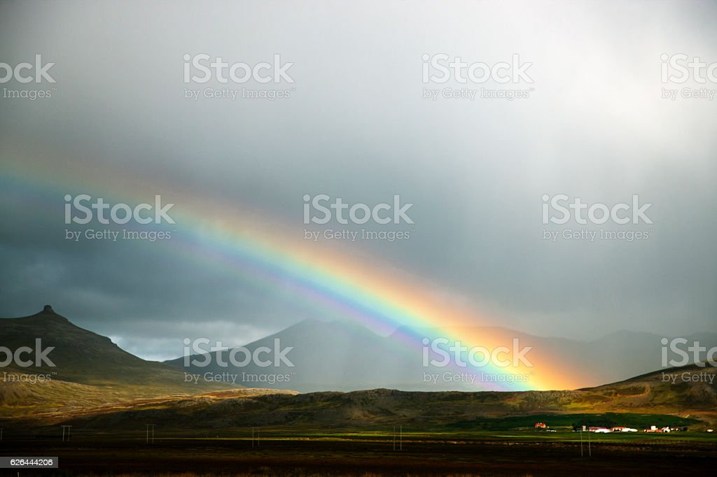 Icelandic rainbow stock photo