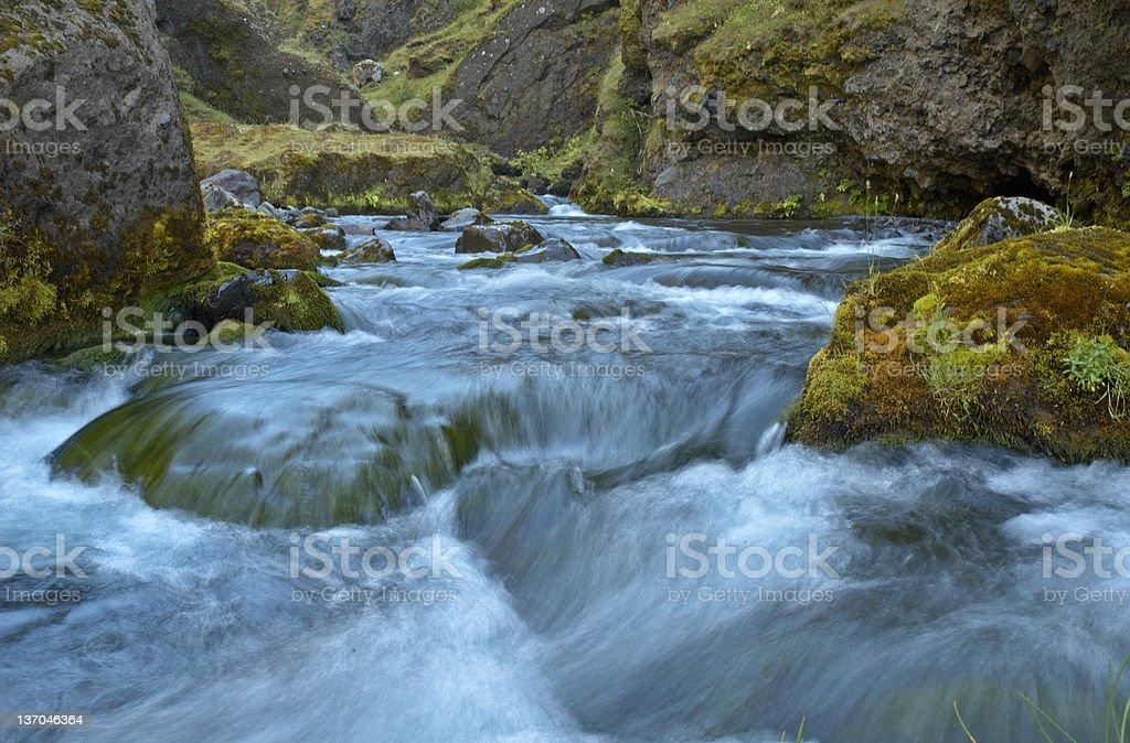 Icelandic river royalty-free stock photo