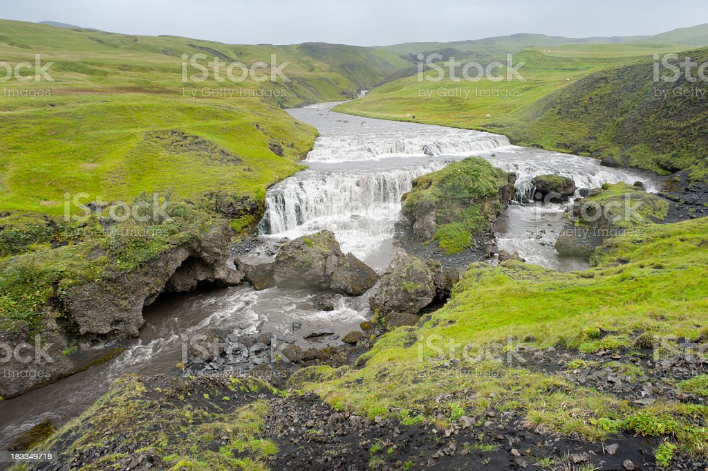 icelandic river stock photo