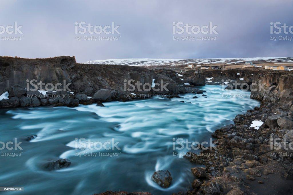 Icelandic River stock photo
