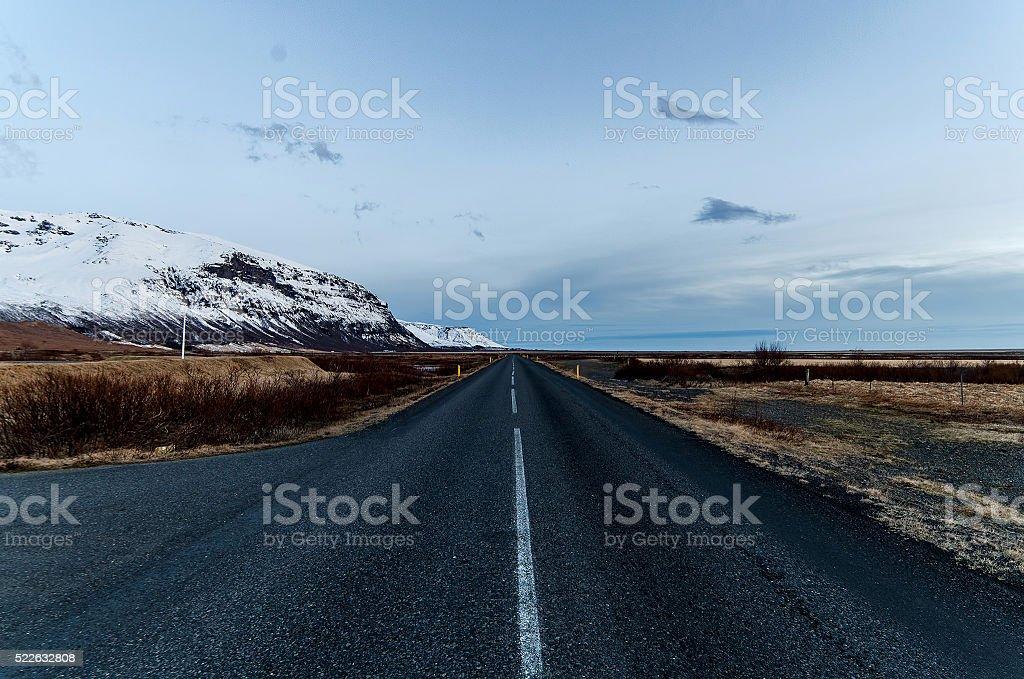 Icelandic Road stock photo