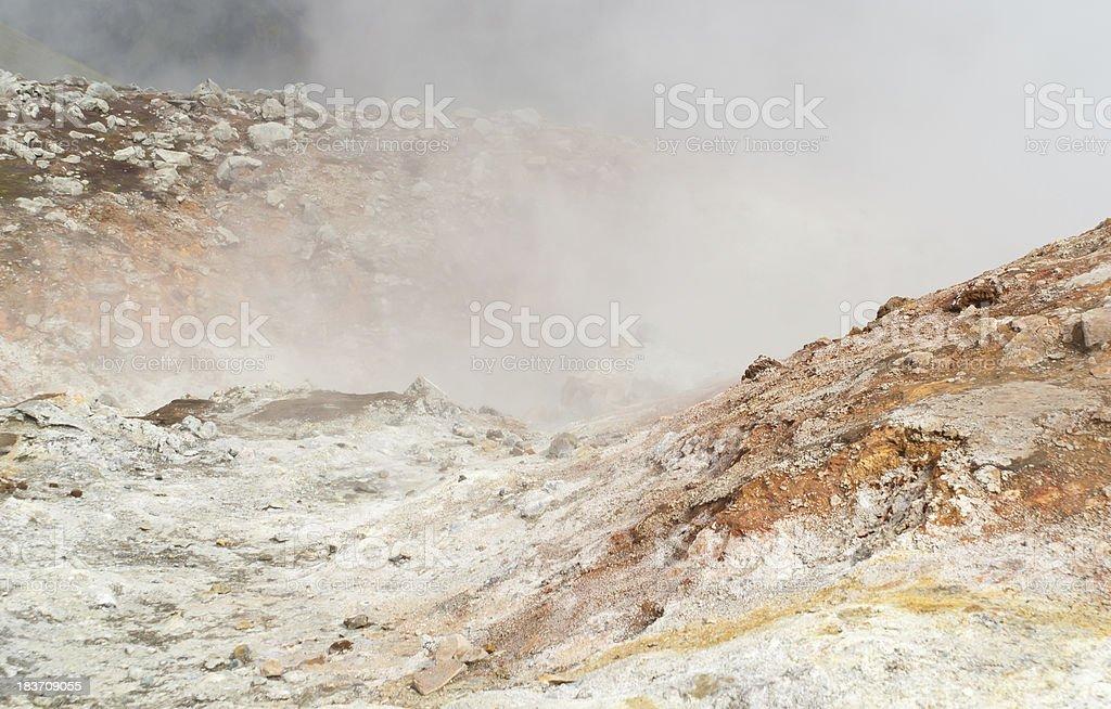 Icelandic smoke royalty-free stock photo