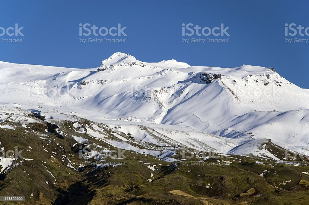 Icelandic volcano royalty-free stock photo
