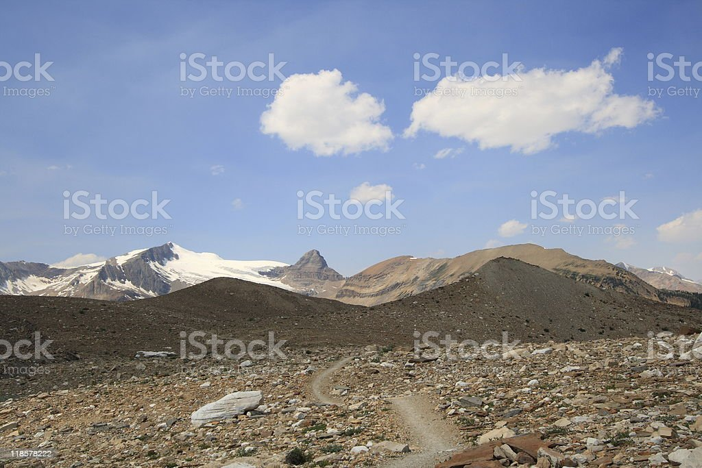 Iceline Trail in Yoho stock photo