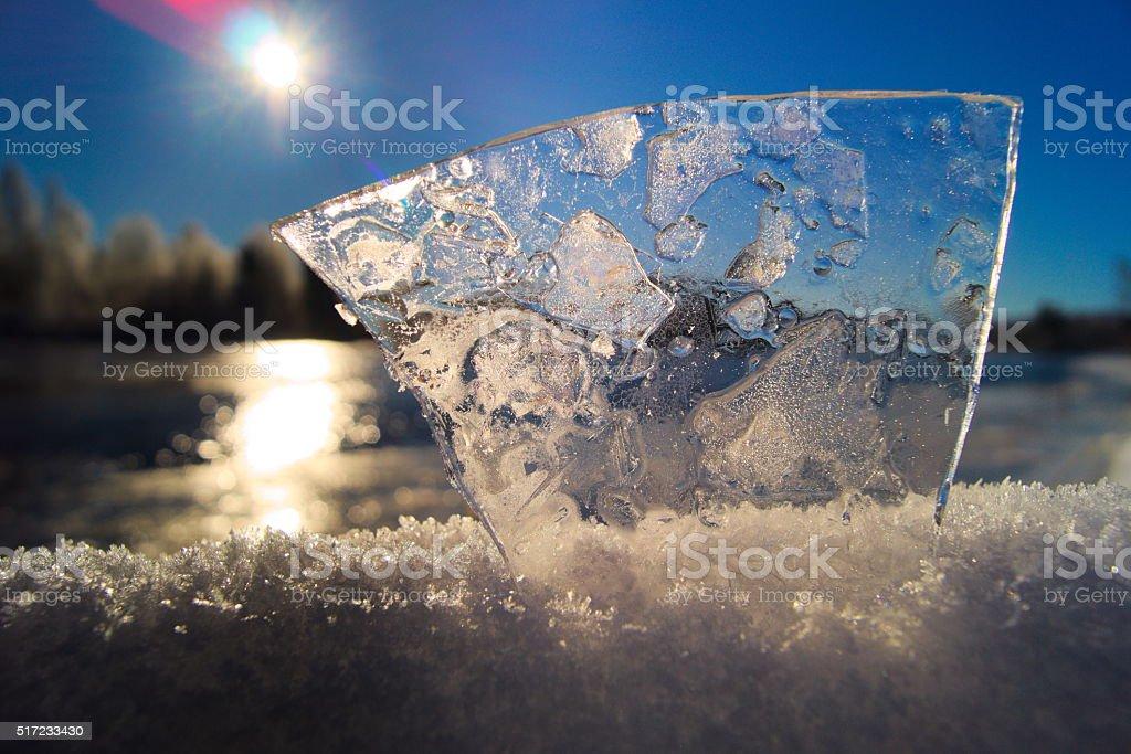 Ice-path stock photo