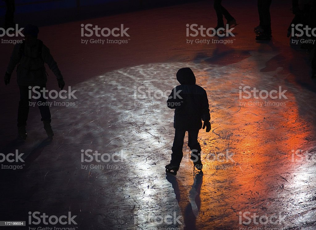 Ice-skating stock photo