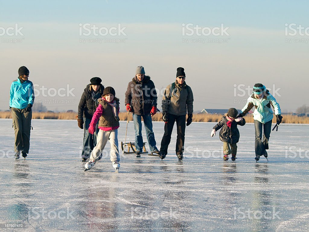ice-skating series royalty-free stock photo