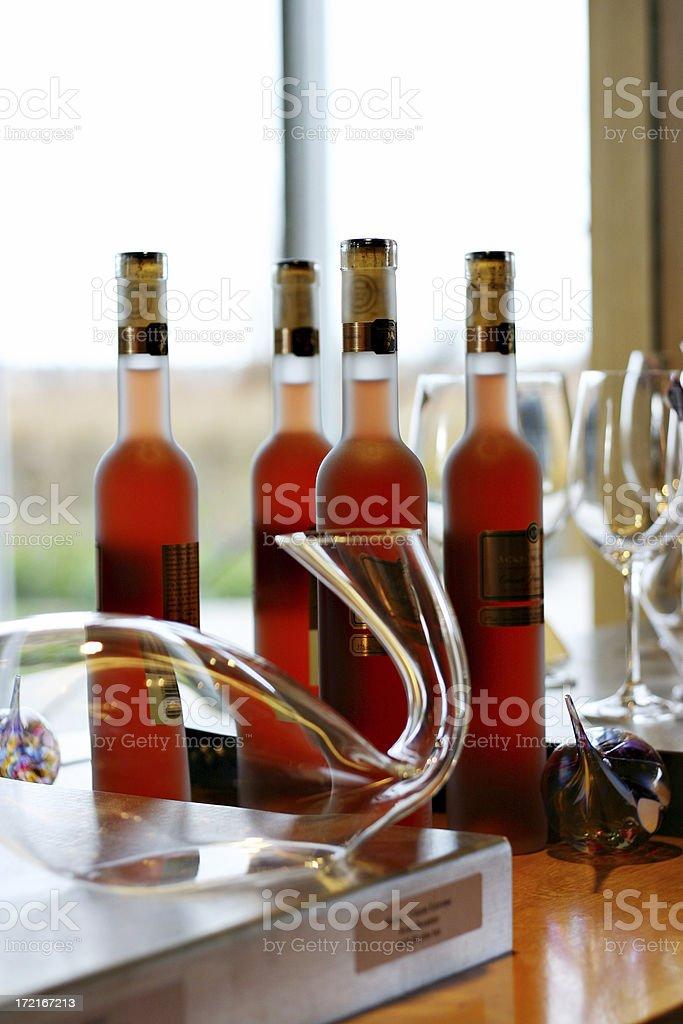 Icewine bottles, Ice Wine stock photo