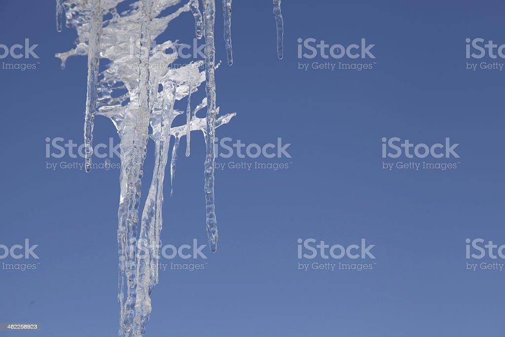 Icicle & blue sky stock photo