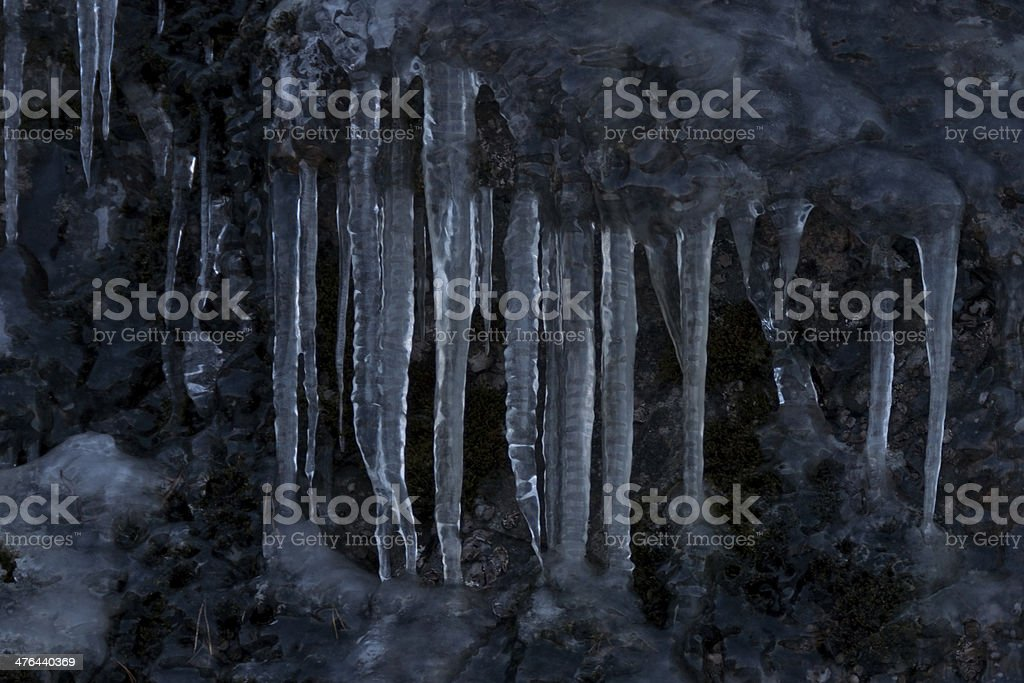 Icicle cluster royalty-free stock photo