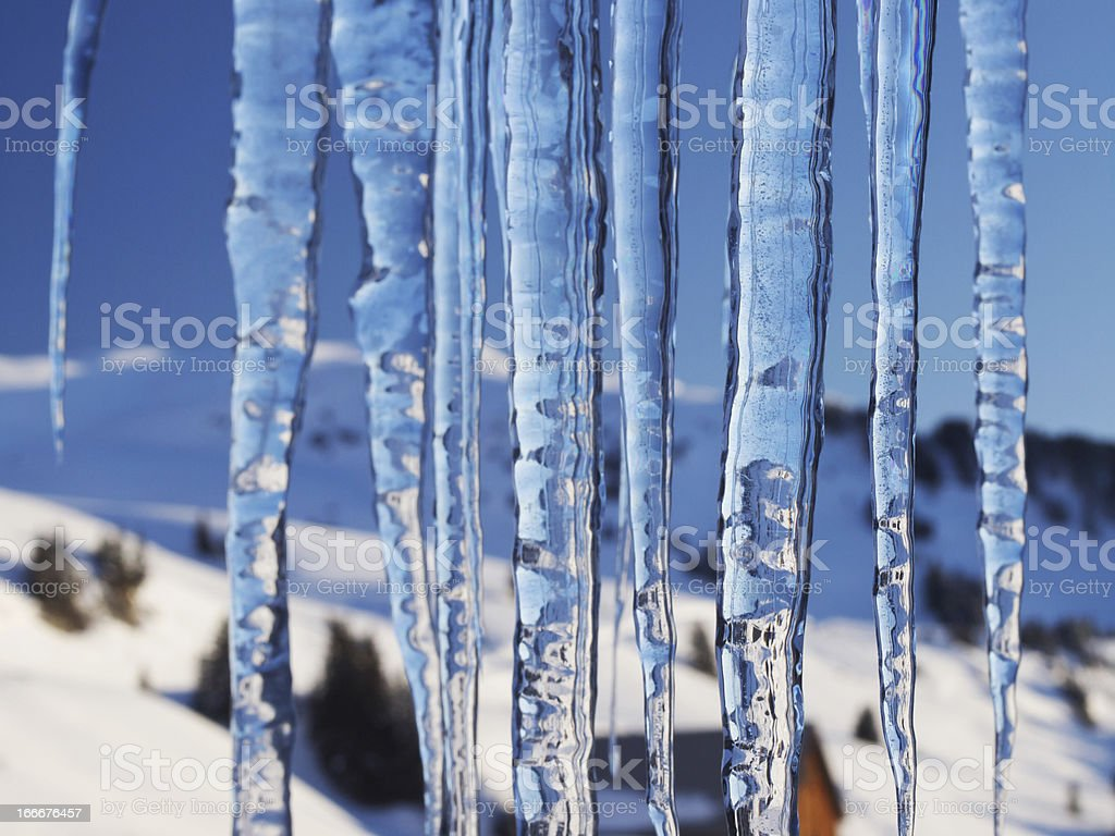 Icicle curtain stock photo