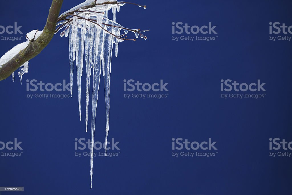 Icicle on Blue royalty-free stock photo