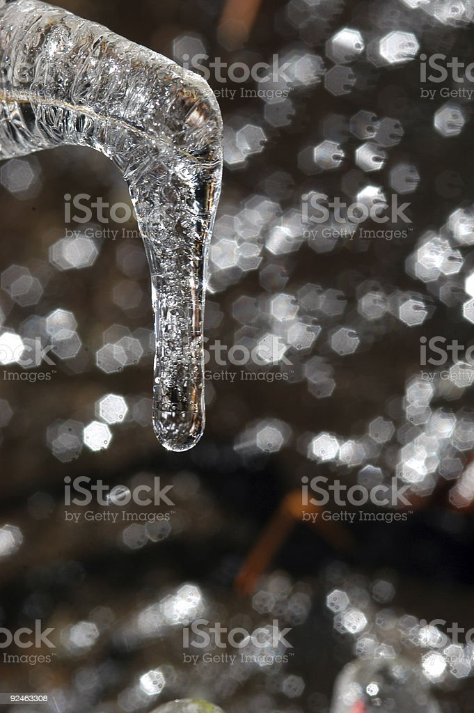 Icicle (verticle) stock photo