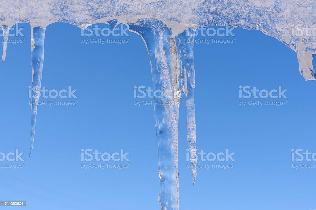 icicle winter ice sky hang stock photo