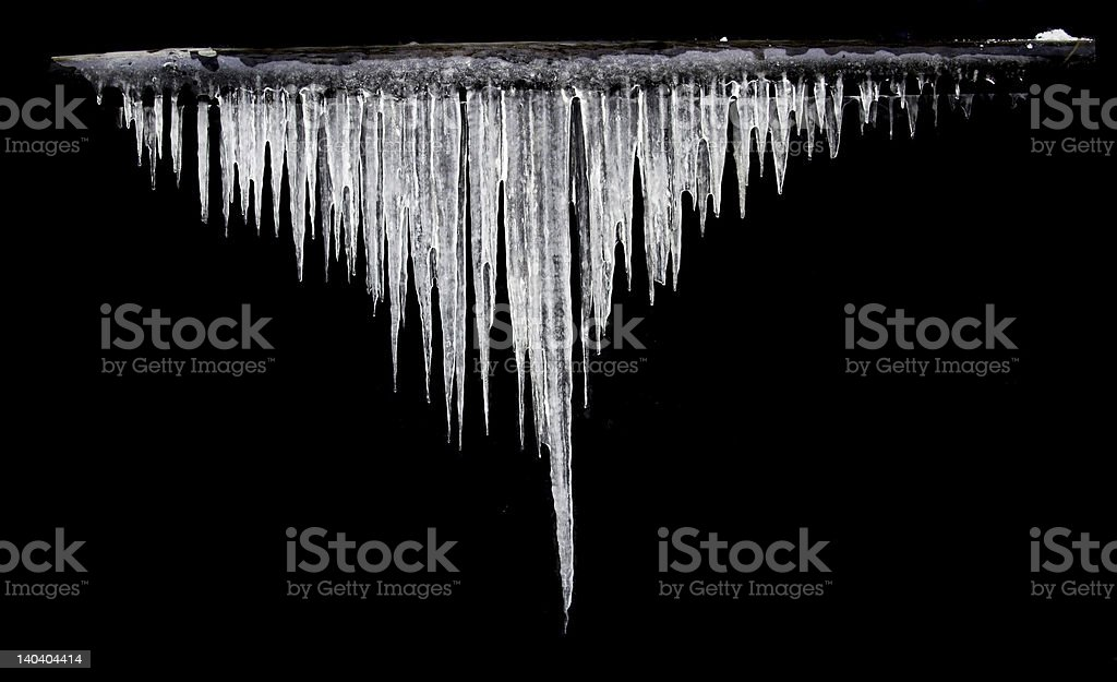 Icicles Gauss distribution royalty-free stock photo