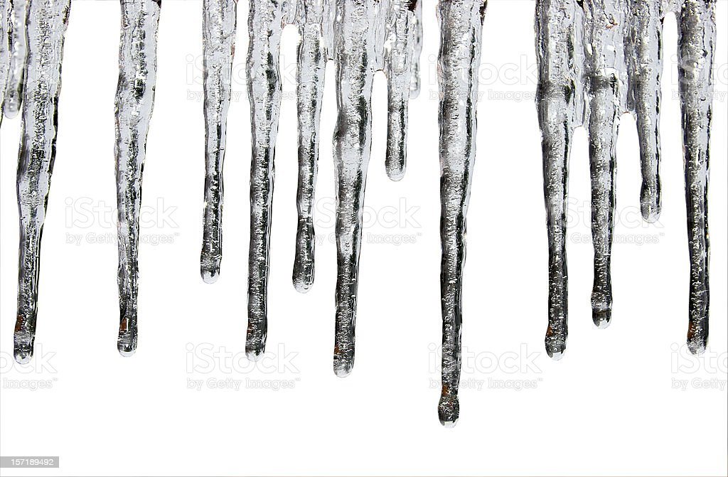 Icicles Isolated royalty-free stock photo