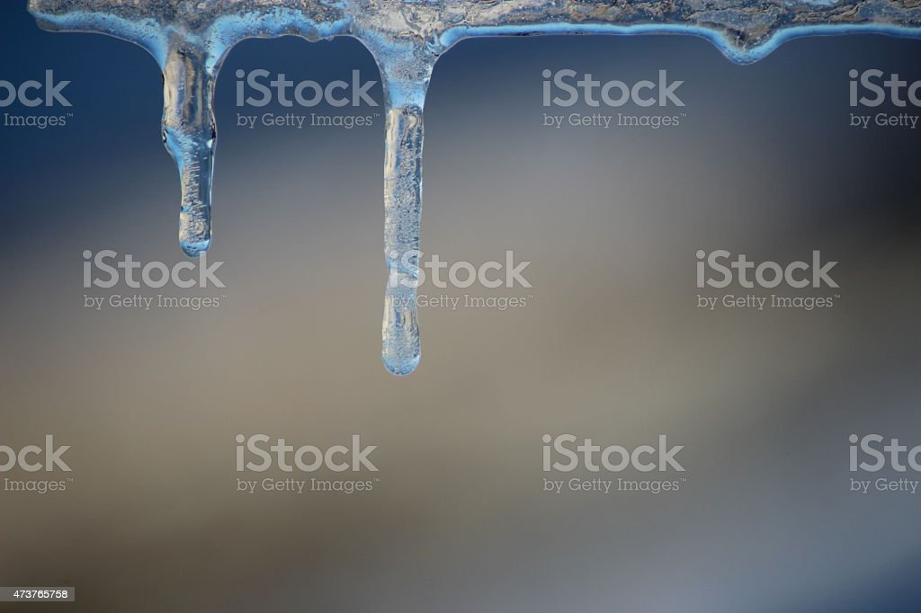 Icicles on the top of Buttertubs Pass stock photo