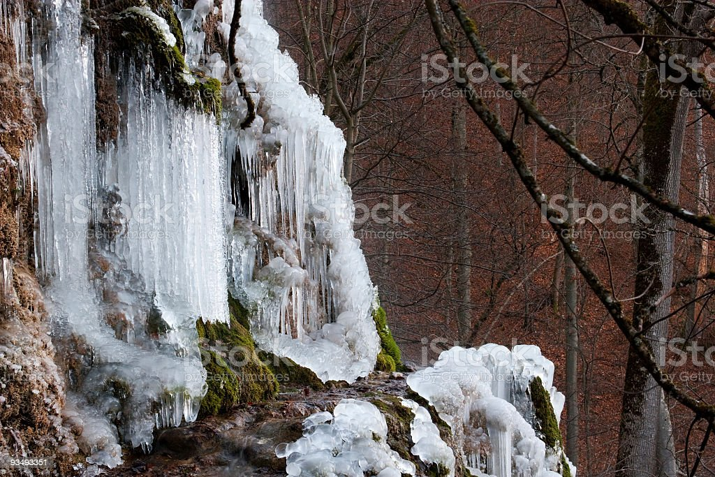 Icicles Waterfall royalty-free stock photo