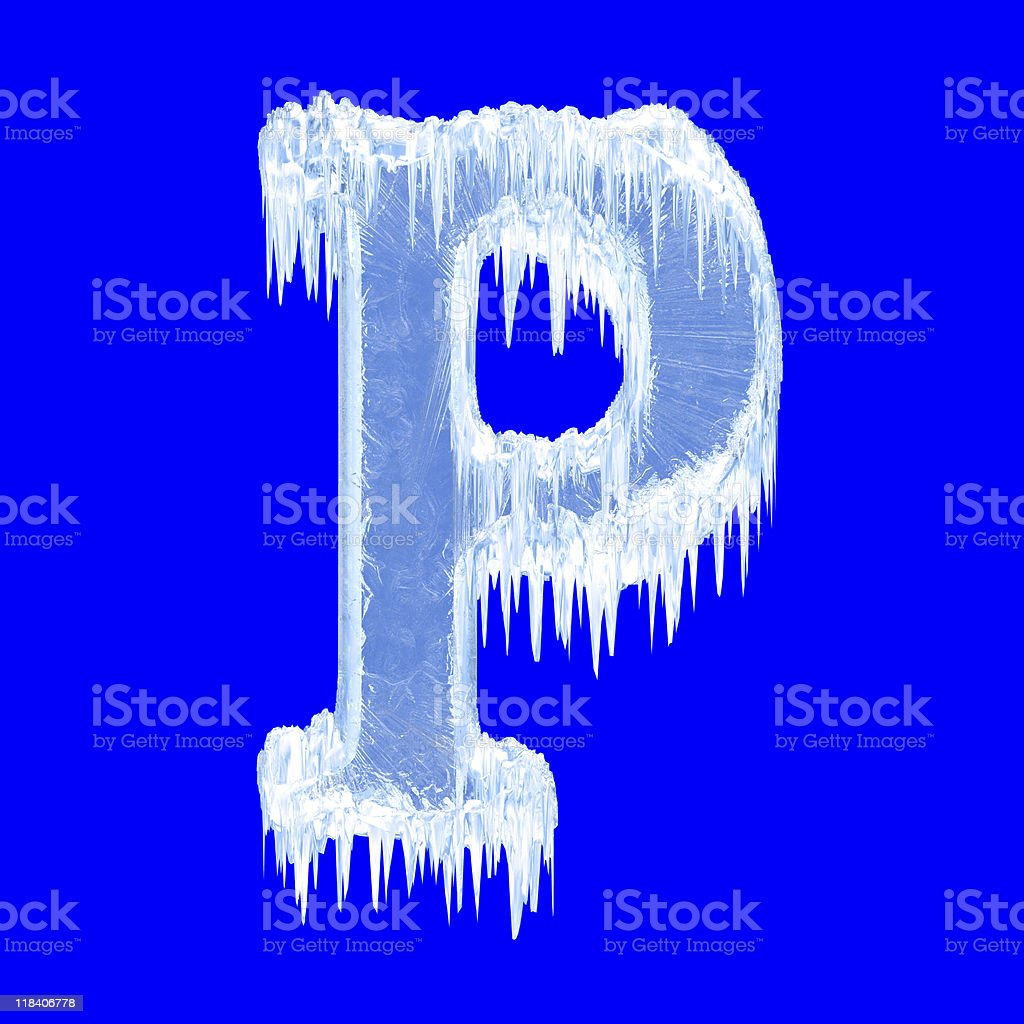 Icing alphabet royalty-free stock photo