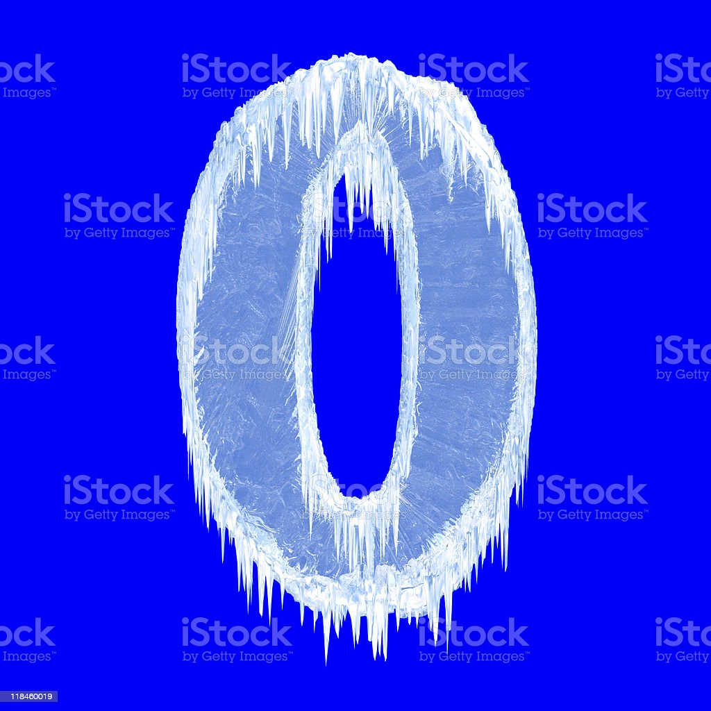 Icing alphabet stock photo