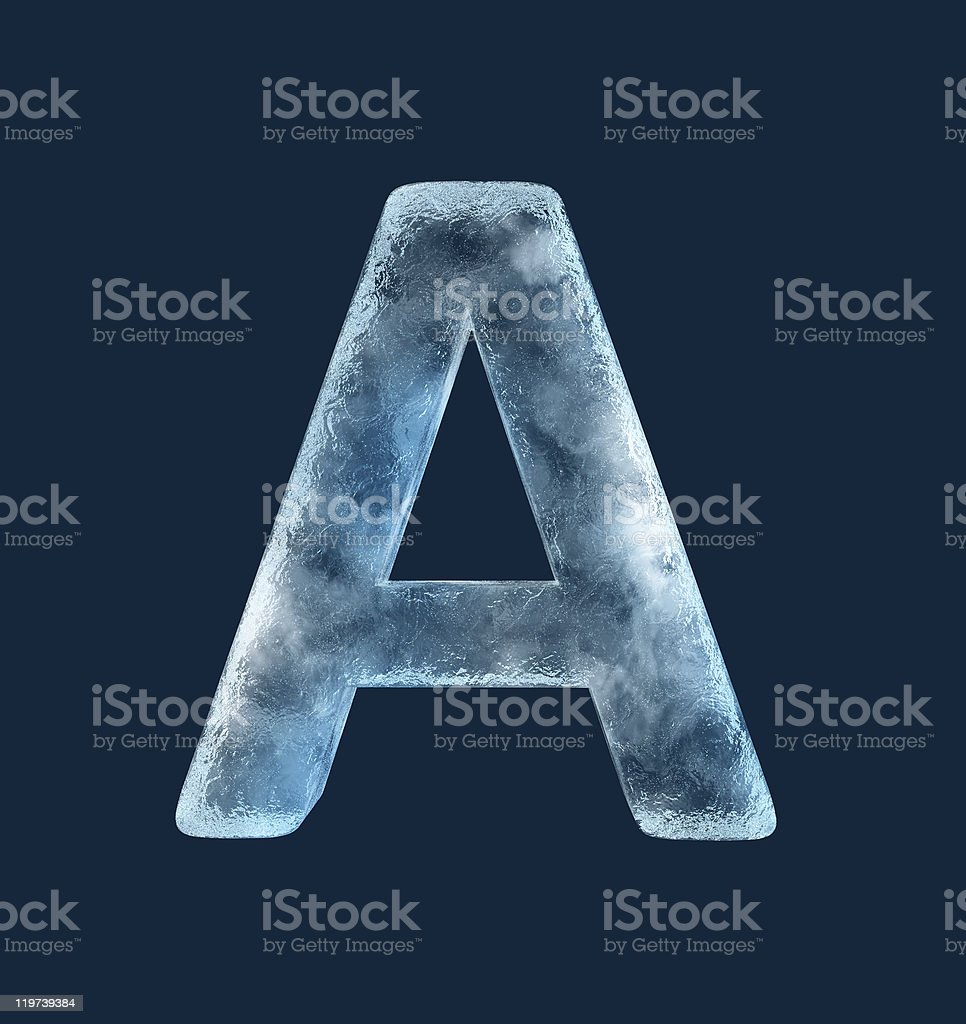 Icing alphabet the letter A royalty-free stock photo