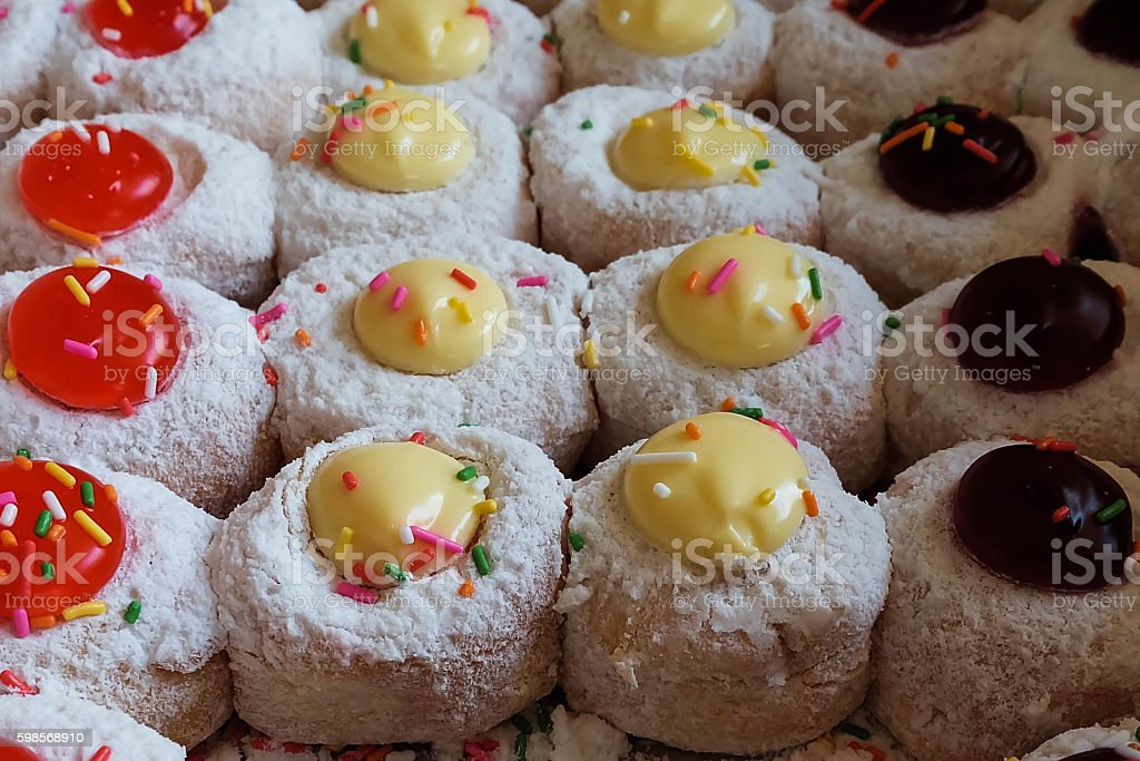 Icing creamy doughnut royalty-free stock photo