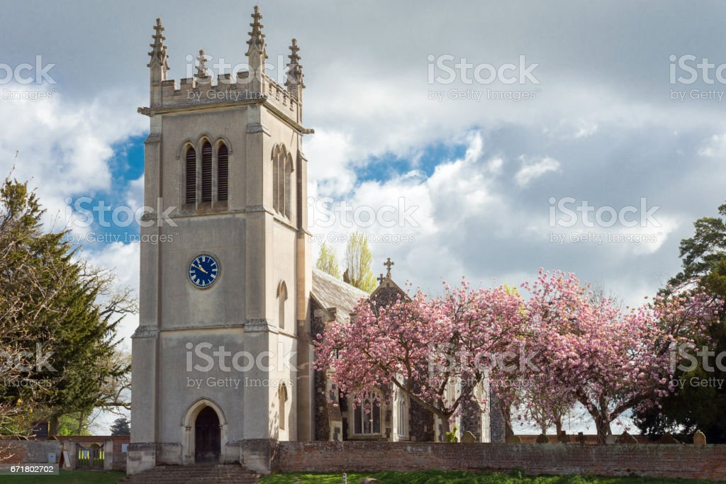 Ickworth Church exterior stock photo