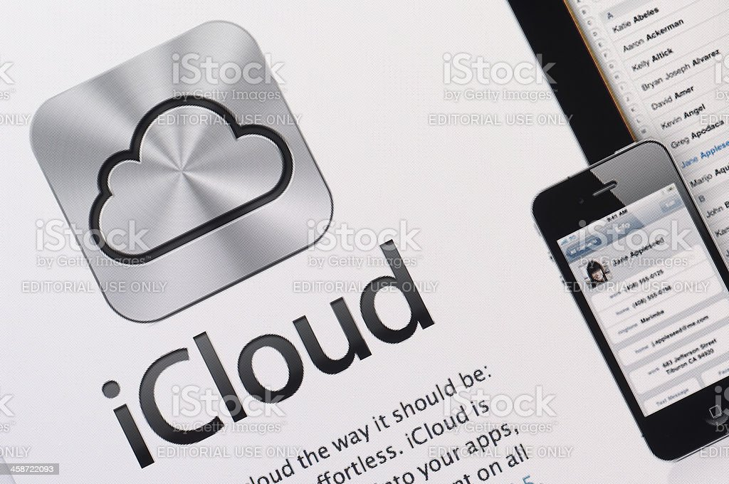 iCloud stock photo